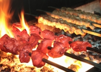Indian kebabs on barbecue